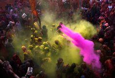 Lathmar Holi festival in India