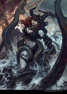 Prepare to be transported to the astonishing fantasy worlds created by concept artist and illustrator Bayard Wu 3d Fantasy, Fantasy Women, Fantasy Girl, Fantasy Comics, Fantasy Armor, Art And Illustration, Paladin, Dragons, Horror