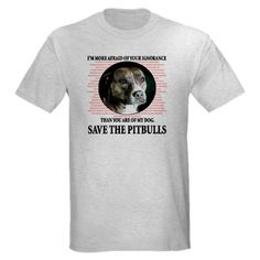 Save the Pitbulls T-Shirt by antibslshirts