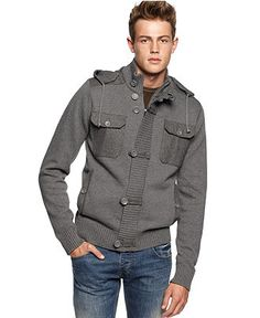 X-Ray Sweater, Hooded Sweater Jacket - Mens Sweaters - Macy's
