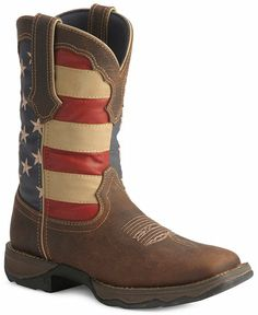 b395b8aa9e42 Durango Lady Rebel American Flag Cowgirl Boots - Square Toe