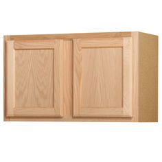 Shop Kitchen Classics 18-in x 30-in x 12-in Unfinished Oak Double Door Kitchen Wall Cabinet at Lowes.com 107.00