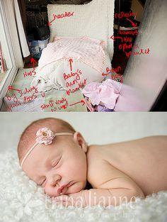 newborn photography setup