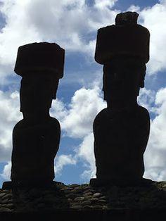 Aterrizando: Disfrutando el atardecer en Rapa Nui con los Moais...