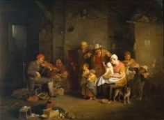 SIR DAVID WILKIE The Blind Fiddler  1806    Oil on mahogany  support: 578 x 794 mm  painting