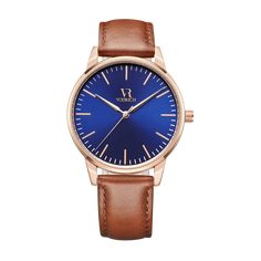 [Details] Japanese Miyota Quartz Movement - Brushed Rose Gold Metal Case - Stainless Steel Back - Case Diameter: 42mm - Case Thickness: 8mm - 100% Genuine Leather Brown Band - Band Length: 24cm - Band Width: 2cm - Hardened Mineral CrystalGlass (Scratch Resistant) - Water Resistant: 3ATM - Weight: 50g -Packagedin VODRICH watch box [Details] [Delivery-Returns] Standard Shipping 10-25 days - Free For Orders Over $50 Expr...