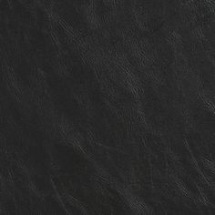 Solid Black Distressed Leather Grain Vinyl Upholstery Fabric