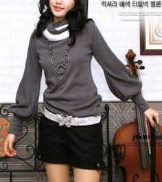 High Collar Special Sleeve Blouse  $14.58