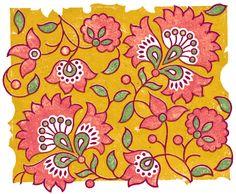 Motifs Textiles, Textile Patterns, Textile Prints, Ajrakh Prints, Simple Wall Paintings, Kalamkari Painting, Folk Art Flowers, Fabric Paint Designs, Posca Art