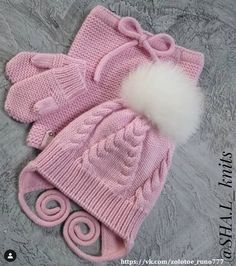 Knitted Booties, Knitted Hats, Baby Knitting Patterns, Free Knitting, Crochet Kids Hats, Baby Hats, Free Pattern, Winter Hats, Barn
