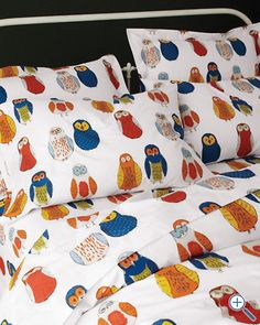 Owl Percale Bedding-- I need these in my life!