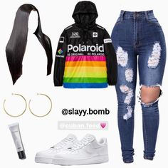 Baddie Outfits Casual, Boujee Outfits, Teen Fashion Outfits, Dope Outfits, Girly Outfits, Trendy Outfits, Tween Fashion, Jordan Outfits, Girl Fashion