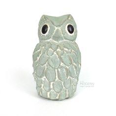 "Isabel Bloom Owl Signed Cement Sculpture Carving 5"" Figurine"