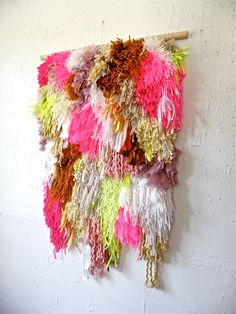 Furry & Melting Strawberry Cake Fields Handwoven by jujujust