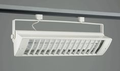 """TR558-COMPACT FLUORECENT TRACK FIXTURE    Louver-White    """"Please Click on the Picture under Schematic to see Detail Information on Track Light""""  Lamp: 2x 39W – Biax (2G11 Base)not included (total lumen output = 6300)  Regular price: $225.00  Sale price: $162.00"""