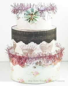 Stack of Decorated Hat Boxes  $27.99 Ebay Store: Vintage Jewelry Treasures