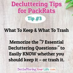 Organizing Tips - Decluttering Tips and Help For PackRats and Hoarders - Stop organizing clutter and DEclutter your home #HomeOrganization #organizationtips
