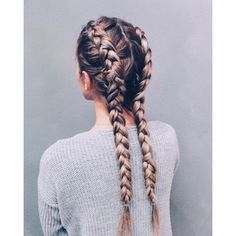40 Adorable Braided Hairstyles You will Love ❤ liked on Polyvore featuring home, home decor and silver home decor