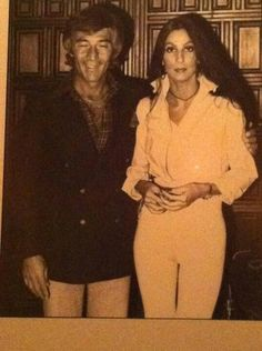 Cher with Melvyn Haber.  Owner of the Ingleside Inn in Palm Springs,  California. #palmsprings
