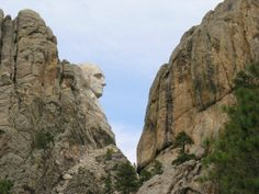 Mt. Rushmore from an unusual angle