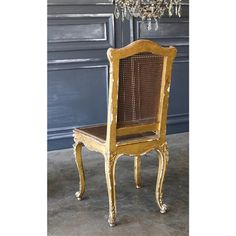 Eloquence® Antique French Gilt Side Chair: 1890