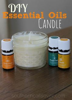 DIY Essential Oil Candle Ever since I got my Essential Oil Starter kit— I've been making ALL sorts of natural items… and it is really exciting! (I plan to share more items in the future) I love all of the oils that I got with my starter kit but there are three in particular that … #candlemaking Essential Oil Starter Kit, Essential Oil Uses, Velas Diy, Essential Oil Candles, Candlemaking, Homemade Candles, Diy Candles Scented, Yankee Candles, Mason Jar Candles