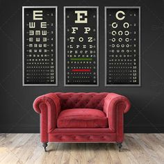retail eyewear in-store poster Optometry Office, Eye Chart, Optical Shop, Eye Exam, Paint Companies, Clinic Design, Chart Design, Typography Poster, Wall Spaces