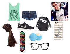 """School with Sammy Wilk"" by annabroome on Polyvore featuring beauty, True Religion, NIKE, Eos, Victoria's Secret, Spitfire and Casetify"
