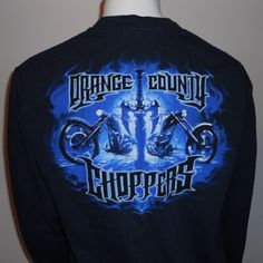 Orange County Choppers Long Sleeve T-Shirt Large LG OCC Motorcycles Bikers #OrangeCountyChoppers #OCC