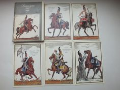 Russian army in 1812,Artist Parkhaev Set vintage postcards, 1988 edition2, USSR, Russia, Napoleon War, soldiers, cavalry, infantry, military by VintageSV Price $11.49 on Etsy