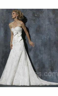 Taffeta Long Sleeveless Empire Wedding Dresses ykdress6969