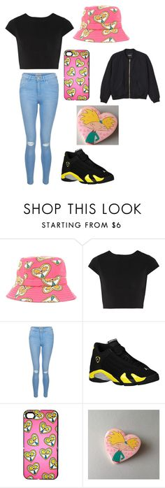 """Hey Arnold"" by queenslayunicorn ❤ liked on Polyvore featuring Alice + Olivia, New Look, Retrò and Monki"