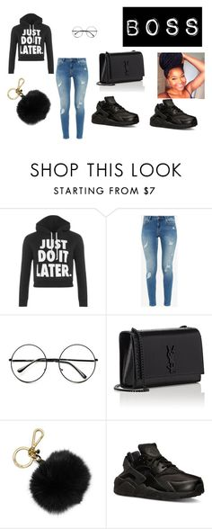 """""""boss black outfit"""" by nevaehhobbs on Polyvore featuring beauty, WearAll, Ted Baker, Retrò, Yves Saint Laurent, MICHAEL Michael Kors and NIKE"""