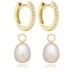 Annoushka Pearl and Kiki Diamond Hoop Earrings - Kate Middleton Earrings - Kate's Closet Gold Diamond Earrings, Pearl Drop Earrings, Bridal Earrings, Kate Middleton Earrings, Jewelry Shop, Jewelry Design, Annoushka, Gold Jewelry Simple, Jewelery