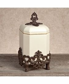 Gg Collection Provencial Small 14 Canister With Metal Base