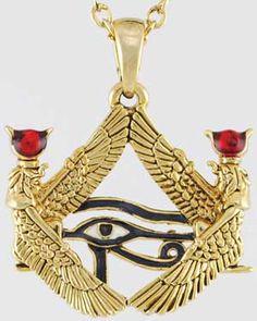 Accessories : Auset Framed Eye of Heru necklace