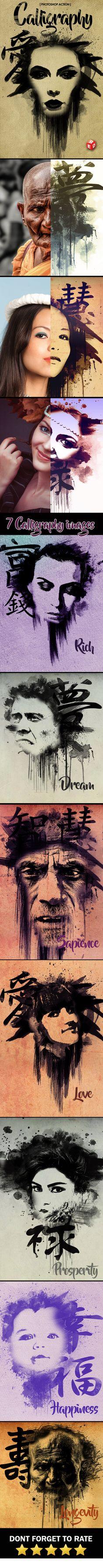 Calligraphy Photoshop Action - Actions Photoshop