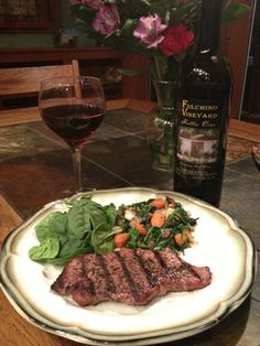 Mmmm mmm good... no Mmm mmm Fulchino Vinyeard Good!   Locally grown wine and beef