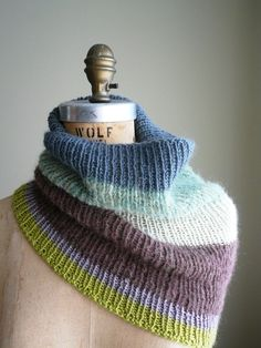 color block COWL - striped INFINITY scarf by olivebrown on Etsy