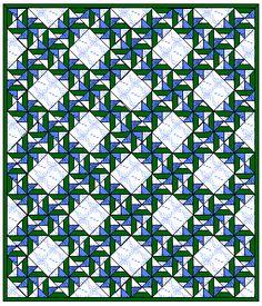 Patterns gratuiti Quilt - Quilt Block del blocco mese Girandola RUOTE - Pagina 1 di esempio trapunta layout
