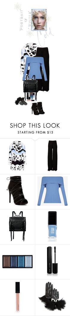 """Portrait of Winter"" by juliehooper ❤ liked on Polyvore featuring Fendi, Rick Owens, BCBGMAXAZRIA, McQ by Alexander McQueen, JINsoon, Clé de Peau Beauté, Marc Jacobs, Witchery and Maison Fabre"