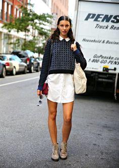 Camisa ou vestido? - Street Style - Vogue Portugal