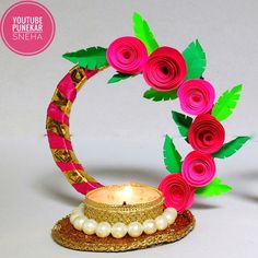 candle making equipment wholesale Diya Decoration Ideas, Diwali Decorations At Home, Christmas Cake Decorations, Flower Decorations, Diwali Diya, Diwali Craft, Diy Arts And Crafts, Crafts For Kids, Diy Crafts
