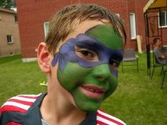 (not only kids, but adult as well) Face Painting For Boys, Face Painting Designs, Balloon Painting, Body Painting, Camouflage Face Paint, Superhero Makeup, Ninja Turtle Birthday, Cool Face, Online Painting