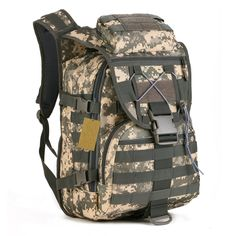 40L Mens Tactical Military Assault Backpack Pack Camping Hiking Day Bag Rucksack  Sport Outdoor 66eaad8de816e