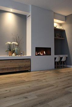 Home - Bebo Vloeren House Design, House, Florida Home, Interior, Home Fireplace, Vinyl Tile Flooring, The Floor Is Lava, Home Decor, Fireplace