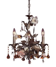 ELK Lighting 85001 Cristallo Fiore 17 Inch Mini Chandelier
