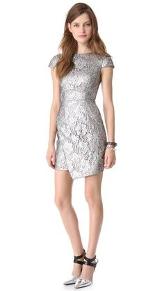 Wils♂n ℒ♥ves this ❂utfit & would ℒ♡ve to see his ☿Princess wearing this beautiful ❂utfit ...... Metallic Lace Wrap Dress