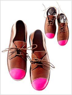 For The Fashionista: Neon Pink Toe Cap Otavi, $235, www.brothervellies.com