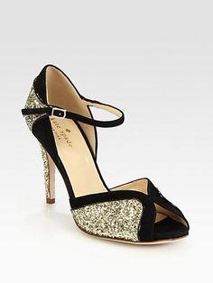 Kate Spade New York - Corrine Glitter & Suede Pumps - Saks.com